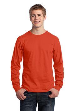 Port & Company - Long Sleeve 5.4-oz. 100% Cotton T-Shirt. PC54LS Orange