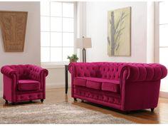 Chesterfield Sofas & Sessel Samt Imen - 2 Farben
