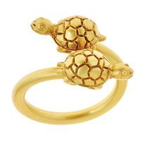 Oooh, we love this Turtle ring by Julie Vos.