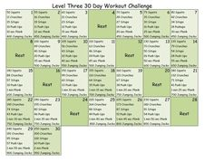 30 day workout challenge- hmm seems like a fairly doable challenge time wise