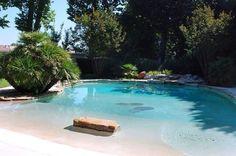 Beach entry pool.