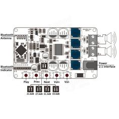 TDA7492P 25W+25W Wireless Bluetooth 4.0 Audio Receiver Digital Amplifier Board Sale - Banggood.com