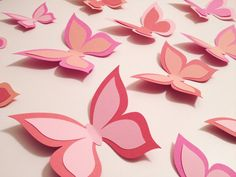 Paper Butterfly 3D Wall Art  30 count  home nursery by ccartsy, $25.00