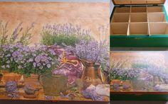 decoupage, lavender