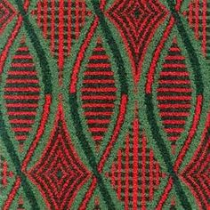 When Enid Marx designed her 1945 moquette for London Transport she was briefed that the fabric needed to look fresh 'even after bricklayers had sat on it'. Used on the Northern Line until the mid sixties. (via Design for Today)