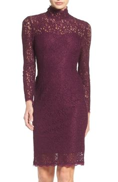 Main Image - Adrianna Papell Corded Lace Sheath Dress (Regular & Petite)