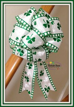 St.Patrick's Day Bow  TootsieSuesWreaths.etsy.com