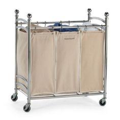 Triple Laundry Hamper Cart
