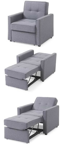 Ten sleeper chairs that turn any space into a guest room in a snap - Living in a shoebox Guest Room Office, Guest Room Decor, Bedroom Decor, Small Rooms, Small Spaces, Twin Sleeper Chair, Blue Accent Chairs, Pull Out Bed, Small Room Design