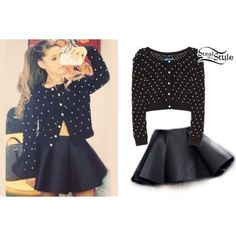 ariana grande steal her style   An art collage from December 2013
