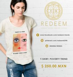 Both side faces - Casual, Modern, Daily T-shirt  $250.00 MXN redeem.trends@gmail.com... www.facebook.com/redeem.trends/ Follow us on Instagram- REDEEM.TRENDS