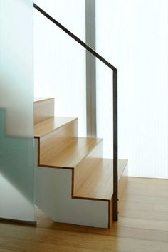 stairs in glass townhomes • sander architects