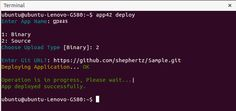 gpaas deploy git cli Getting Started with GPaaS on App42 PaaS