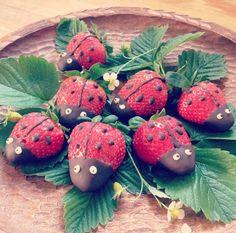 Ladybug - jordbær med chokolade