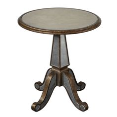 Uttermost Eraman Antiqued Rustic Accent Table