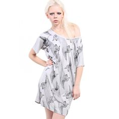 AllCats' Longline Exposed Stithcing Dress $37.20