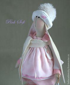 Toy animals, handmade. Fair Masters - handmade Bunny Pink Sofi in soft pink (39 cm). Handmade.