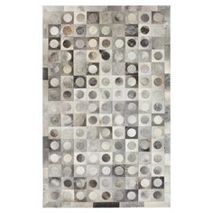 Lunar Leather Rug in Gray