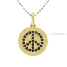 This is angelic black diamond peace sign necklace pendant crafted with 14k yellow gold 0.20 carat weight with  AAA quality natural black diamond comes in black rhodium set in 14k yellow gold. Centred with beautiful natural black diamonds and crafted with 14k yellow gold.