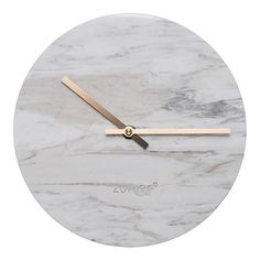 Marble and gold wall clock - love that it looks like a moon