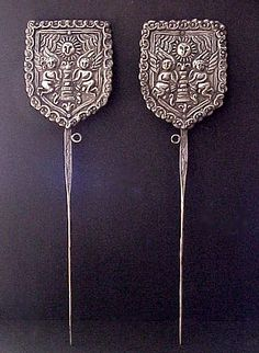 Nomad's Journey: an online gallery of ethnic art with textiles, art objects, prints and jewelry from around the world. Spanish Colonial Decor, Noble Metal, Hair Ornaments, Art Object, Online Gallery, Hair Comb, Madonna, Antique Silver, Handmade Items