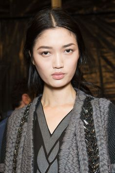 Feng Qi Wen at Alberta Ferretti Fall/Winter 2014 Backstage