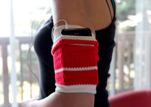 An old tube sock as a workout armband? Get the steps to make this supereasy (and very comfy!) accessory that stores your phone while you sweat it out. Read this blog post by Sharon Vaknin on How To.