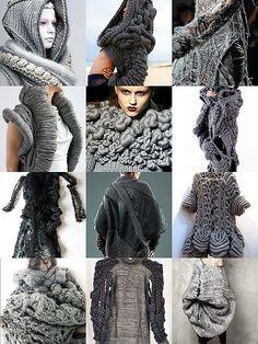knit sculptured Flickr di coolclimates Filato consigliato: