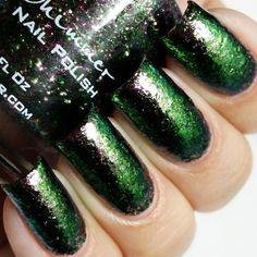 KBShimmer Nail Polish in Green Weaver Swatch
