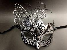 New Beautiful Butterfly Laser Cut Metal Venetian Masquerade Custom Prom Mask