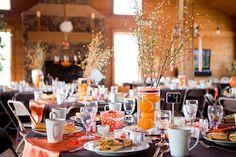 Orange hued wedding