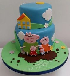 Peppa Pig and family - Cake by Gavin - Putty Cakes