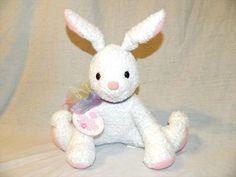 HTF Hallmark 10  Plush White Bunny Rabbit BUN BUN New w Tag Stuffed Easter