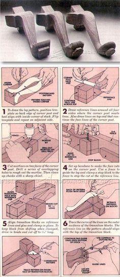 Making Cabriole Legs - Furniture Leg Construction   WoodArchivist.com