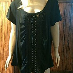 Women's Plus Size Top 22/24W Brand new women's top size 22/24, color is black with lace front new with tags Tops