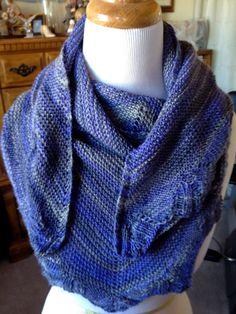 Blue Grey Shawl Scarf Cowl by joandben on Etsy, $42.00