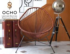 Leather cord chair