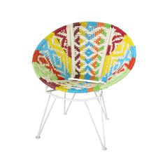 Relax among friends or cozy up with some evening reading in this charming bohemian chair. This stunning Serra Lounge Chair features a round seat with gorgeously woven multicolored patterning. Add this ...  Find the Serra Lounge Chair, as seen in the Free Shipping Day: Seating Collection at http://dotandbo.com/collections/free-shipping-day-seating?utm_source=pinterest&utm_medium=organic&db_sku=109405