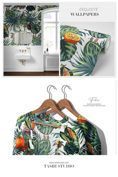 Exquisite tropical print patterns for fashion and home decor as well as wallpapers and paper products. Available for licensing in both commercial and extended license options.