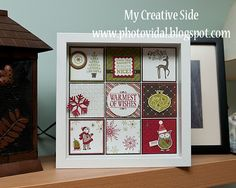 My Creative Side: Frame worthy Christmas Decoration