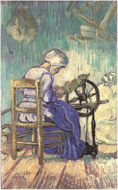 Spinner, The by Vincent Van Gogh   Painting, Oil on Canvas   Saint-Rémy: September, 1889