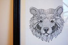 Grizzly Bear 10 x 12 -  Original Illustration - Predator Series
