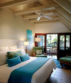 Blue And Turquoise Accents In Bedroom Designs U2013 39 Stylish Ideas   DigsDigs