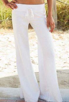 Linen beach pants - love!