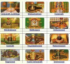 Lord Shiva (12 Jyotirlingas )