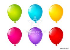 Set of bright color balloons