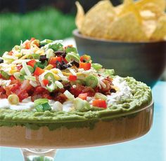 Colossal Macho Nacho Dip for Sunday's Super Bowl! - Janet and Greta Podleski Yummy Appetizers, Appetizer Recipes, Snack Recipes, Cooking Recipes, Healthy Recipes, Cheese Recipes, Mexican Food Recipes, New Recipes, Favorite Recipes
