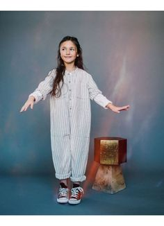 Saturn Striped Jumpsuit / Cosmic - GIRL - Products : Fawn Shoppe - Global Boutique For Unique Children's Designs