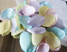 Lilac, Pastel Yellow, Pastel Blue & Pastel Pink Rose Petals / Easter / Wedding Rose Petals / Decor Rose Petals / Flower Girl Rose Petals by Isamilly on Etsy