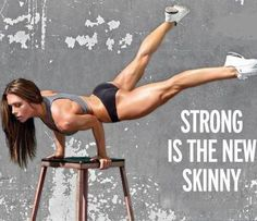 strong: yes. skinny: never. it's all about that hourglass shape.